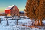 Barn At Sunrise 02751