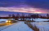 Wintry Dawn At Bellamy Lake 02830-5