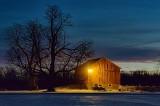 Red Barn At Dawn 20101229
