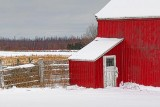 Red Barn In Snow 20110109