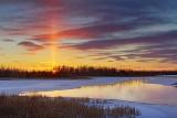 Sunset Solar Pillar 20110114
