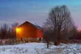 Red Barn At Dawn 20110127