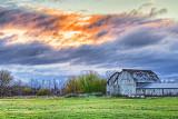 Barn Under Clouded Sunrise 20121016