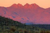Four Peaks At Sunset 81553