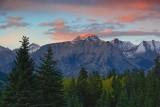 Canadian Rockies at Sunset 17106