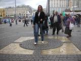 Geographic Center of Moscow & Good Luck location to Throw a coin over your shoulder