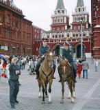 Unhappy Police Having Picture Taken of Them in Red Square