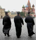 Russian Orthodox Priests in Red Square