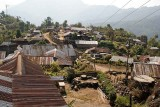 Peren Village - like all the villages in southern and central Nagaland - nearly all the houses have got tin roofs.