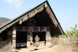 Morung in Wanching, Lower Konyak Naga.