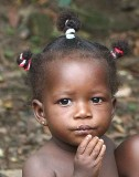 Little girl in Togo.