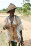Tamberma man with monkey skin in the north of Togo.