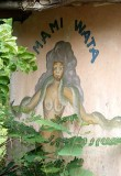 Voodoo. Wall painting of Mami Wata in a village near Possotomé.