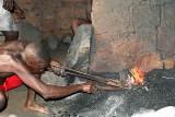Blacksmith in Lamassayoudé, Togo.
