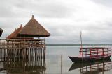 Restaurant on stilts. Lake Ahémé, Possotomé, Benin.