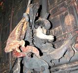 Signs of former sacrifices, jaw-bones of cows and buffaloes in a Phnong house. Pu Tang Village, Mondulkiri, Cambodia