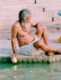 Brahmin in Varanasi at the river Ganges
