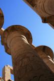 Colonnes en forme de papyrus ouverts
