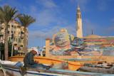 Le marché aux poissons et la mosquée