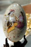 Oeuf peint, décor indien