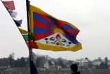 Le drapeau tibétain flotte sur la Loire