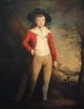 Portrait du jeune Bridget Seward tenant une batte