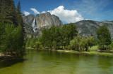Yosemite Falls from Swinging Bridge