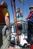 On the sailing boat