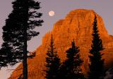 Mt. Reynolds With Moon