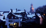 Snowy roof tops