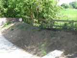 Cleared site, early June 2009