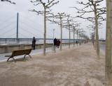 Dusseldorf's riverfront walk