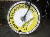 Logo Fiersersbond in wiel meetfiets