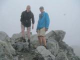 Marten en Hans op de Säuleck (3086 m)