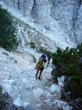 'iron ropes' in de klim van de Pelmo
