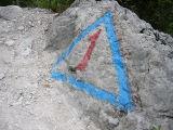 het sein/teken van de Alta Via 1