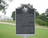 State historical marker at entrance