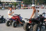 Adolecents renting bikes