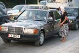 One of the ubiquitous second-hand Mercedes cars