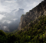 Cloudy scene in the Val D'Anniviers.