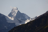 The Matterhorn in the morning, as seen from our balcony.