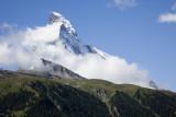 First view of the Matterhorn in Zermatt, from the Gornergrat train.