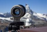 Focused on the Matterhorn, at Gornergrat.