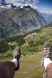Paragliding over Zermatt.