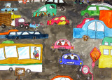 please count the vehicles, Tommy, age:8.5