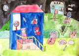 haunted house, Jessica, age:7.5