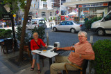 Enjoying a drink in Istanbul - Turkey Sept 2