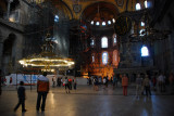Interior of St Sophia which is now a museum