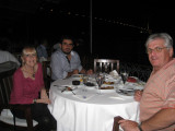 Enjoying a beautiful seafood dinner in Istanbul Sept 2, 2010