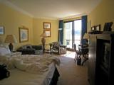 Hotel room at the Ciragan after a nap